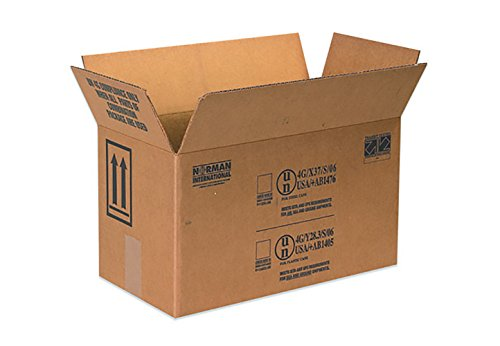 RetailSource B170809HM25 Hazmat Box, 9.3125'' Height, 8.5'' Width, 17'' Length, Brown (Pack of 25) by RetailSource (Image #1)