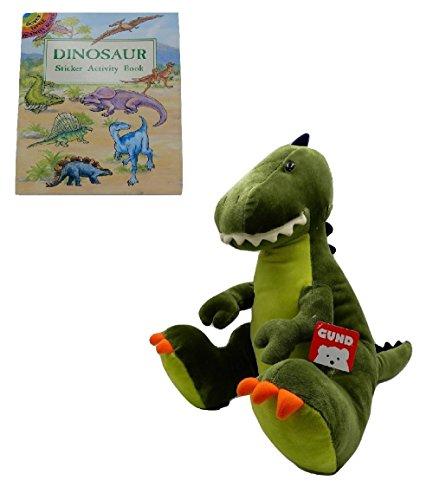 Gund Tristen Tyrannosaurus Rex Dinosaur Plush Animal with Sticker Book (Plush Cow Mascot Costume)