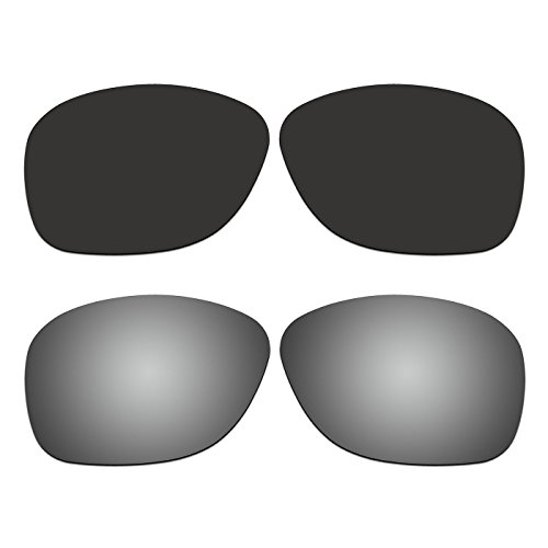 2 Pair ACOMPATIBLE Replacement Polarized Lenses for Oakley She's Unstoppable Sunglasses OO9297 Pack - Oakley Replacement Unstoppable Lenses