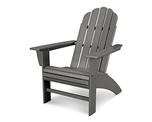 POLYWOOD Vineyard Curveback Adirondack Chair (Slate Grey)