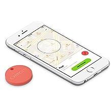 Chipolo Plus Smart Keyring Bluetooth Tracker, Phone Finder, Key Finder, Wallet Finder, Item Finder - Coral Red …
