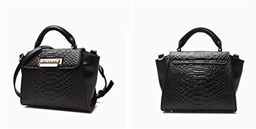 Bolsos de cuero de la Mujer Xinmaoyuan primavera y verano señoras bolso de hombro paquete transversal oblicua, negro Negro