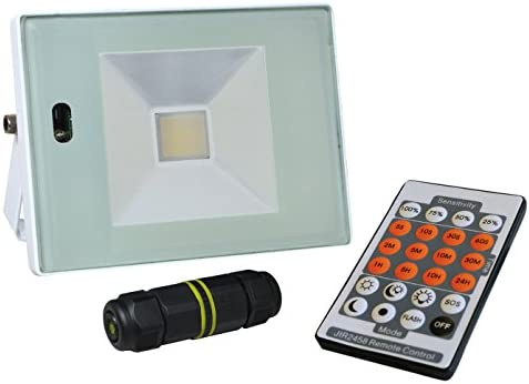Tibelec 351510 Proyector LED con detector de movimiento/mando a ...