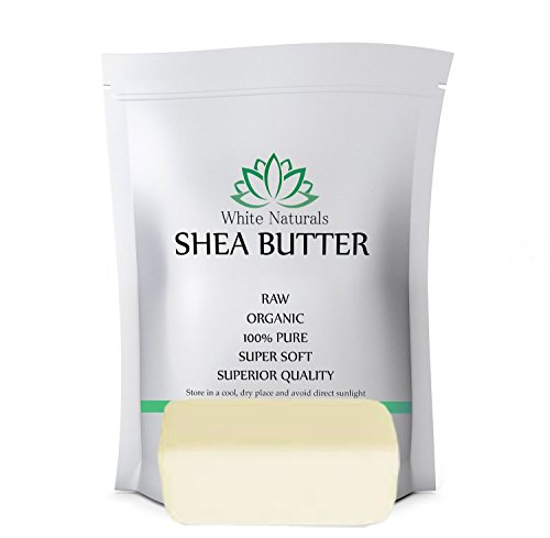 Shea Butter 1 lb Pure, Raw, Unrefined, Grade A, Perfect Skin Moisturizer, DIY Lip Balms, Stretch Marks, Eczema, Acne, Recover Sun Damage, Kids Cream by White Naturals