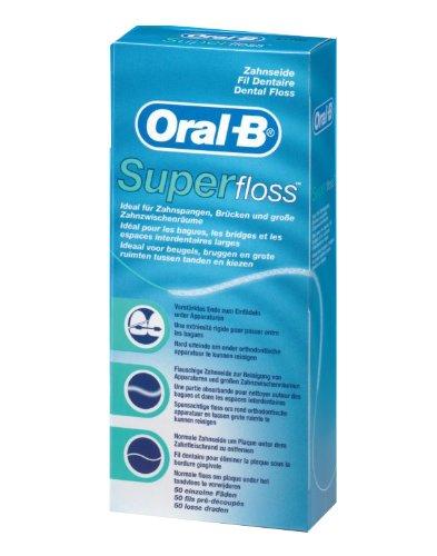 Oral-B – Hilo dental Superfloss (4 unidades x 50 hilos)