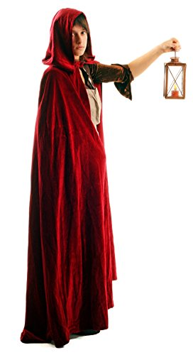 Full Length Cloak/Cape with Hood for Adults (Medevil Dresses)