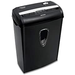 Aurora 8 Sheet Cross Cut Paper Shredder with Basket featuring Overload/Overheat Protection, Auto Start, and Manual Reverse to Clear Paper JamsTurn private documents and sensitive information into confetti at the rate of eight pages per minute...