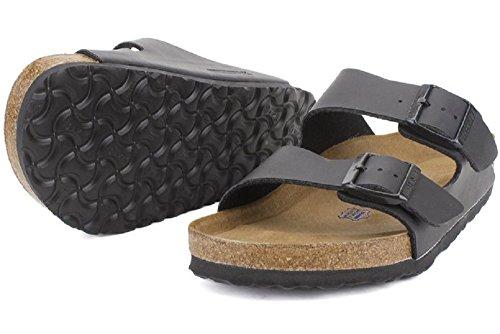 Birkenstock Unisex Arizona Black Birko-flor Sandals - 5-5.5 B(M) US Women