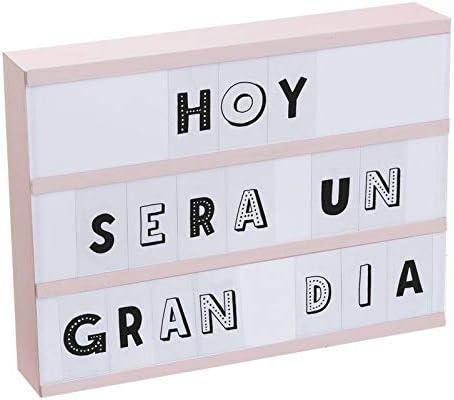 DCASA Caja de luz 87 letras rosa - Luz de compañía: Amazon.es: Bebé