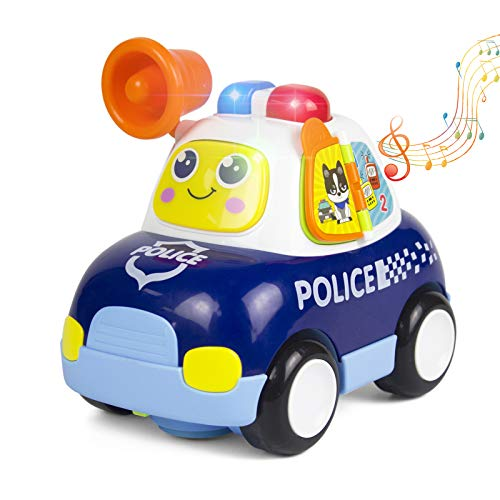 Woby Musical Police Car Action Educational Learning and Walking Toy for 1 Year Old Baby Toddler Girl Boy