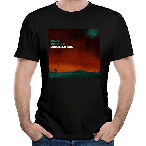 LIZHIJUN Men's August Burns Red Constellations T Shirt Short Sleeve O Neck Tops Tee XX-Large