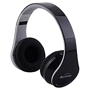 Beyution V4.1 Bluetooth Wireless Foldable Hi-fi Stereo Headphone for Smart Phones & Tablets - Black