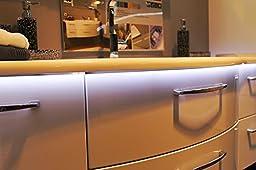 (5 Pack) Eleta 3.3ft/1m Aluminum C Channel / Profile for LED Strip Lights, Under Cabinet / Counter Lights (PDS - O)