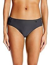 Body Glove Women's Smoothies Smoothies Contempo Full Coverage Bikini Bottom, Black, XS
