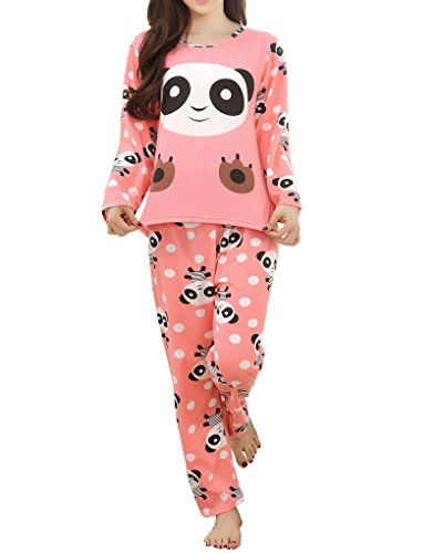 MyFav Children Girl Pajama Long Sleeve Sleepwear Cute Big-Eye Panda Nightclothes