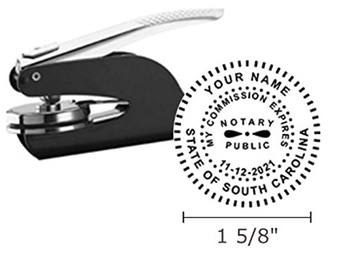 South Carolina Notary Seal Embosser, Pocket/Hand Model, 1-5/8