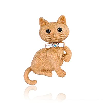 Mytys Jewelry Cute Animal Brooches Insert Brooch Enamel Pin for Women Girl Kid Gift