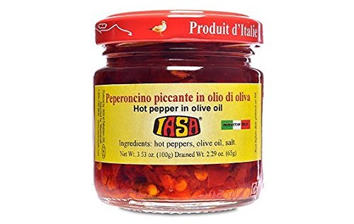 - Iasa Peperoncino Piccante Hot Red Peppers in Olive Oil 100 Gr Jar