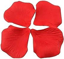 1000 PCS Dark Silk Rose Petals Wedding Flower Decoration Artificial Red Rose Flower Petals for Wedding Party Favors...