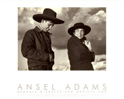 (Georgia O'Keeffe and Orville Cox Art Poster Print by Ansel Adams, (Overall Size: 20x16) (Image Size: 14.5x10.5))