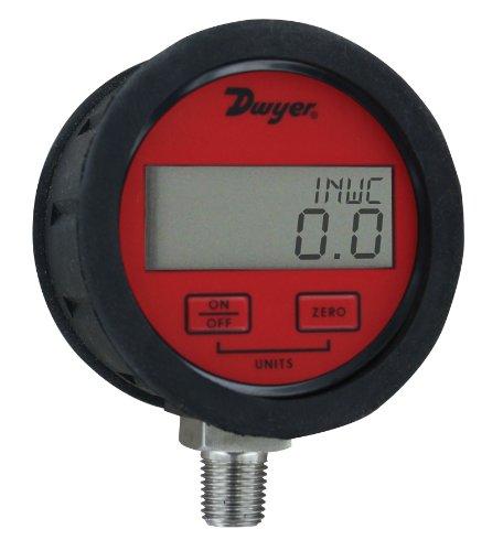 Dwyer DPGAB Series Digital Pressure Gauge with Boot, Water, Range 0 to 300 psig ()