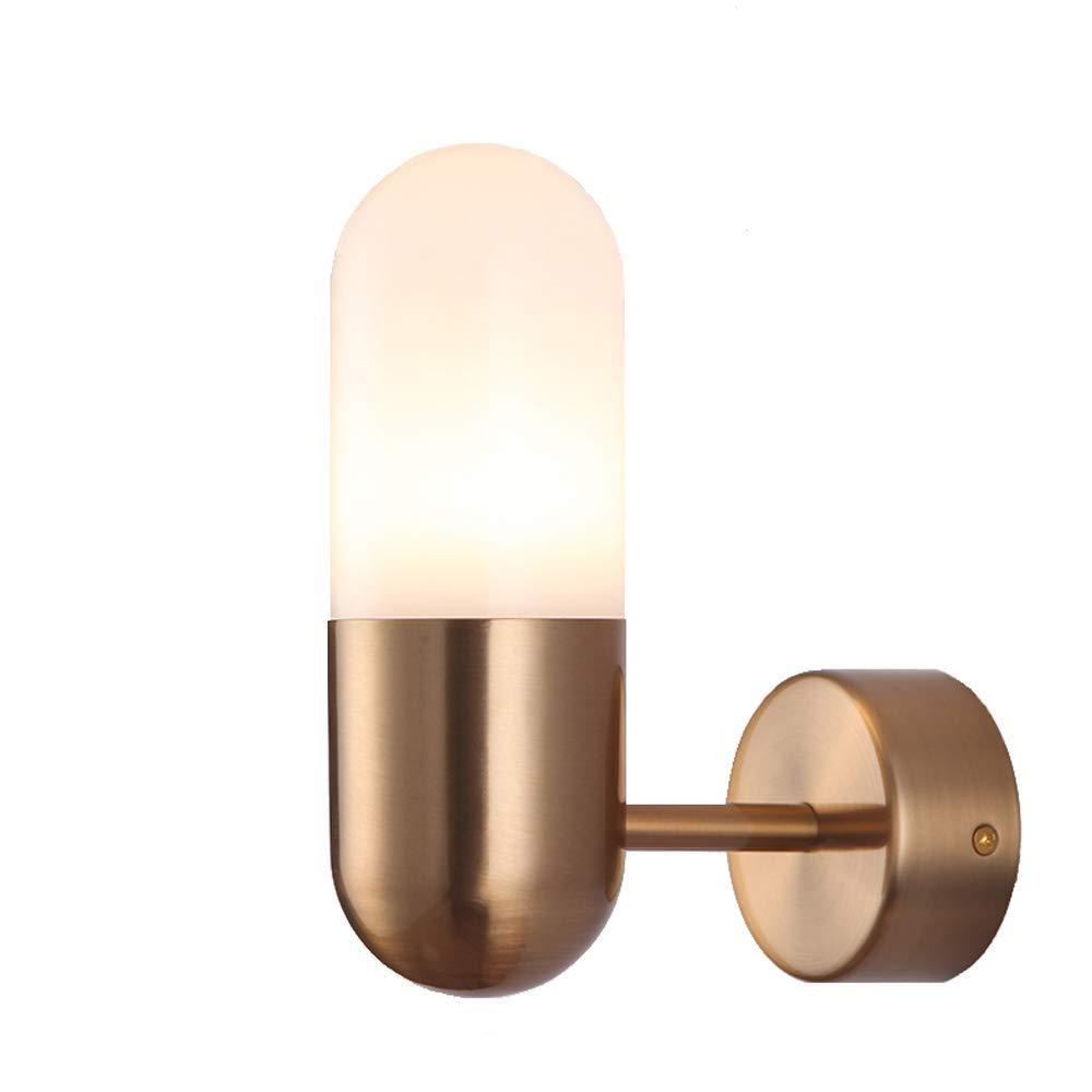Erosb 明確なガラスシェード、ロフトの浴室の寝室のためのビンテージスタイルの壁ランプの農家の壁の照明設備で産業壁取り付け用燭台   B07QXS5SYZ
