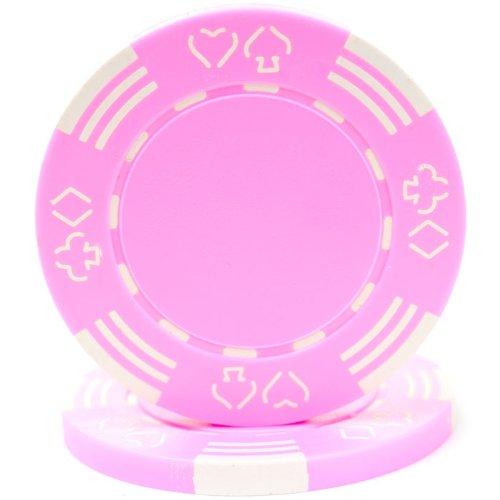 (Trademark Poker Royal Suited Casino 50 Poker Chips, 11.5gm, Pink)