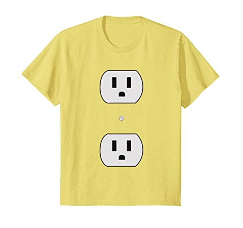 Price comparison product image Kids Super Simple Easy Halloween Costume - Electrical Outlet Plug 4 Lemon