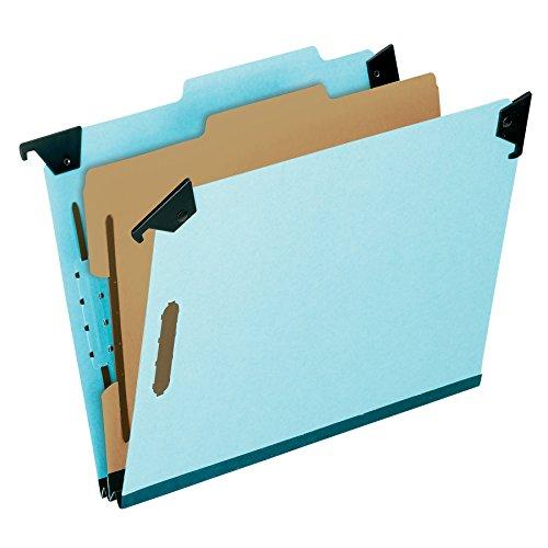 (Pendaflex 59351 Pressboard Hanging Classi-Folder, 1 Divider/4-Sections, Legal, 2/5 Tab, Blue)