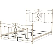 Fashion Bed Group B11V65 Dewey Complete Metal Bed, Queen, Antique White