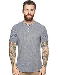 Men's Short Sleeve Oxford Henley