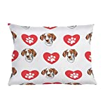 Style In Print Personalized Pillow Case Ariege Pointer Dog Heart Paws Polyester Pillow Cover 20INx28IN Design Only Set of 2 6