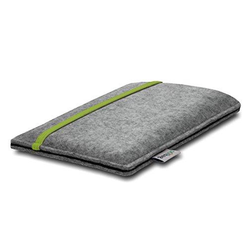 Stilbag Etui Feutre 'LEON' pour Apple iPhone 3Gs - Couleur: lime-gris