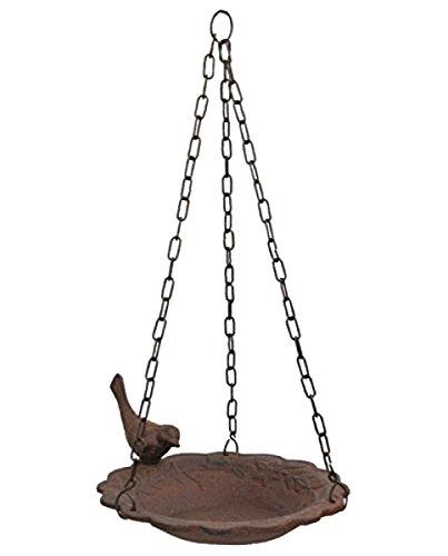 Hanging Birdbath Feeder Cast Iron Patio Garden (Leonard Dog House)