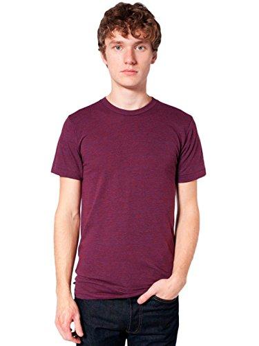 American Apparel Men's Blend Short Sleeve Track Shirt, Tri-Cranberry, - Blend Tri T-shirt