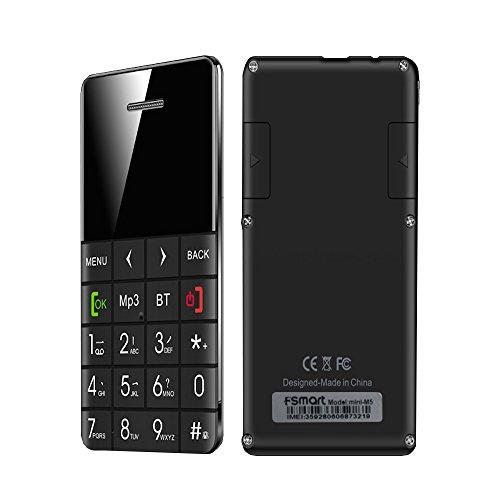 Fsmart®Q5 Pedometer Mini Cell Phone 0.96' Oled Screen Credit Card Size Mini Phone Best Dialer Partner for All Types Tablet Smart (Mini Pedometer)