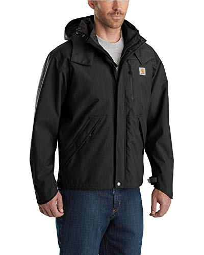 Carhartt Men's Shoreline Jacket Waterproof Breathable Nylon,Black,Medium
