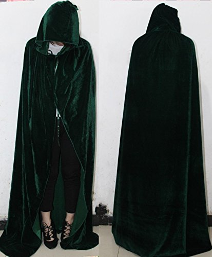 Wall of Dragon Long Purple Green Red Black Cloaks Hood Cape halloween costumes for women vampire Men gothic scary Fancy -