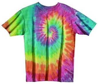 Sundog Pastel Rainbow Tie Dye Swirl T-shirt, Small