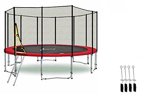 LS-T400-PA13 (RDA) DELUXE LifeStyle ProAktiv Garten- Trampolin 400 cm - 13ft - Extra Starkes Sicherheitsnetz - 180kg Traglast - TÜV/GS/CE