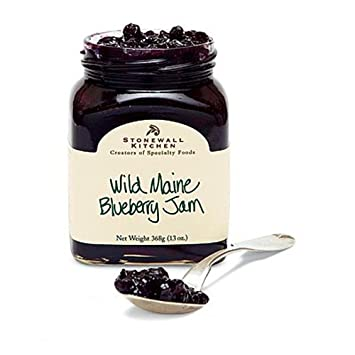 Stonewall Kitchen Wild Maine Blueberry Jam, 12.5 Ounce Jars (Pack Of 4)