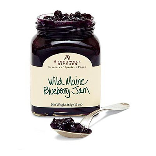 Stonewall Kitchen Wild Maine Blueberry Jam, 12.5-Ounce Jars (Pack of 4)