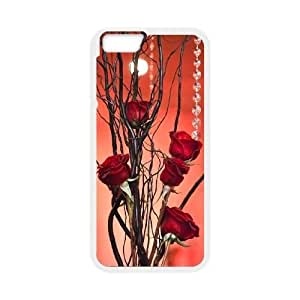 red floral CUSTOM Cover Case for iPhone6 Plus 5.5