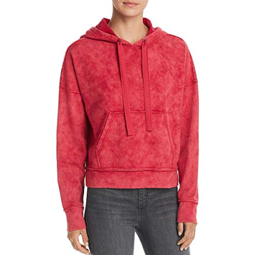 Kenneth Cole New York Womens Cropped Pullover Hoodie Pink ()