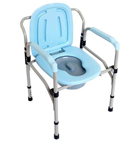 Toilettenstuhl Toilettenhilfe WC Nachtstuhl einklappbar höhenverstellbar 55x75-85x53cm