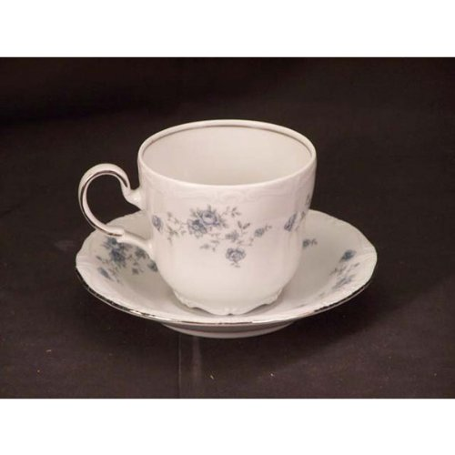 Johann Haviland Blue Garland Flat Cups & Saucers - Blue Garland Saucer