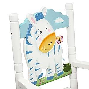 Teamson Kids - Safari Wooden Rocking Chair for Children - Zebra