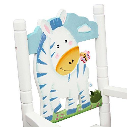 Teamson Kids - Safari Wooden Rocking Chair for Children - Zebra by Teamson Design Corp (Image #1)