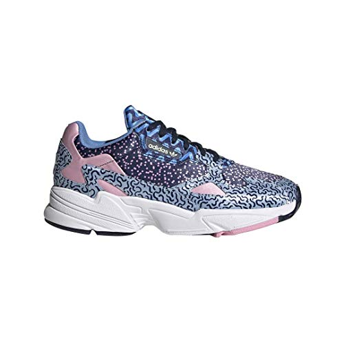 adidas Originals Women's Falcon Running Shoe, Collegiate Navy/Glow Blue/True Pink, 10.5 M US