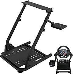 1 Pcs Racing Steering Wheel Stand fit for Logitech G27/G25, G29 and G920 Introduction: This steering wheel stand is a perfect solution for those who wants to mount their wheel and pedals onto an ergonomic racing position.The pedal plate angle...